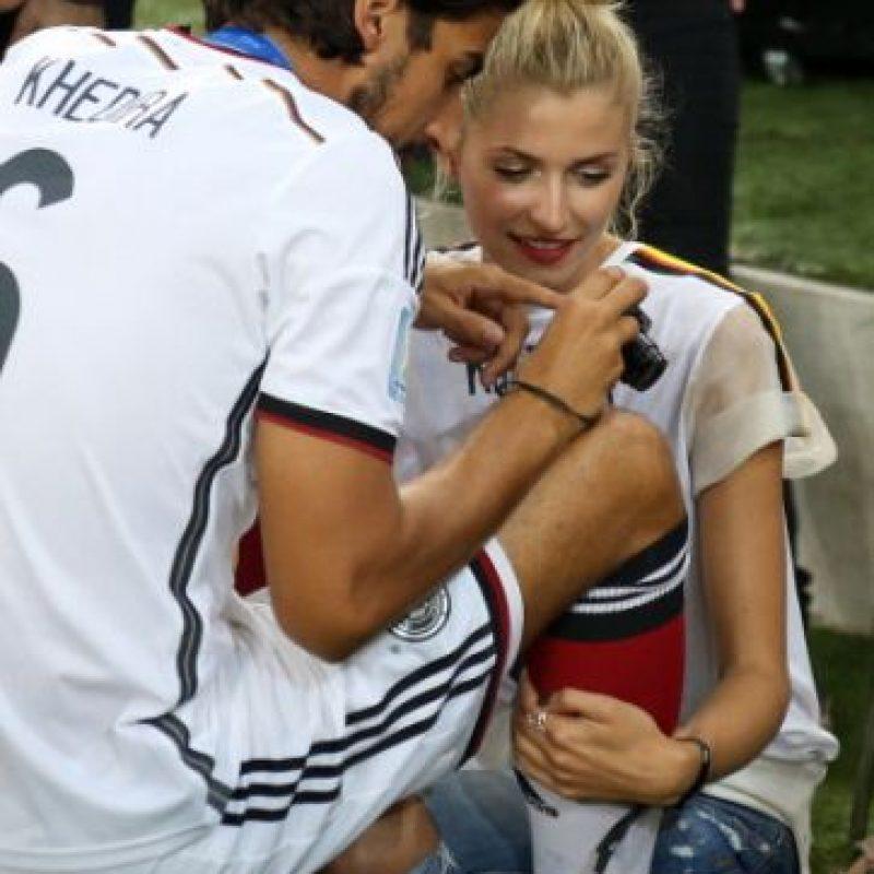 1. Sami Khedira y Lena Gercke Foto:Getty Images