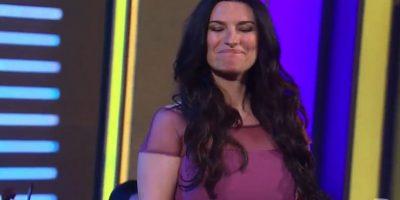 Laura Pausini cantó emotivamente. Foto:vía Twitter/Univision