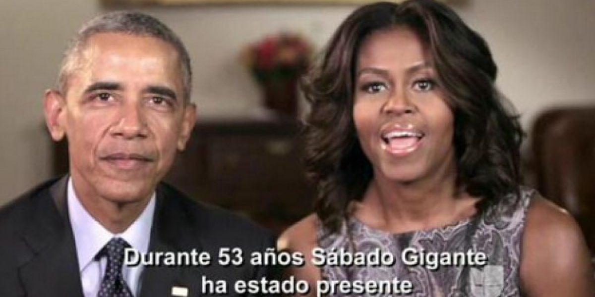 Video: Los Obama felicitan a Don Francisco por Sábado Gigante