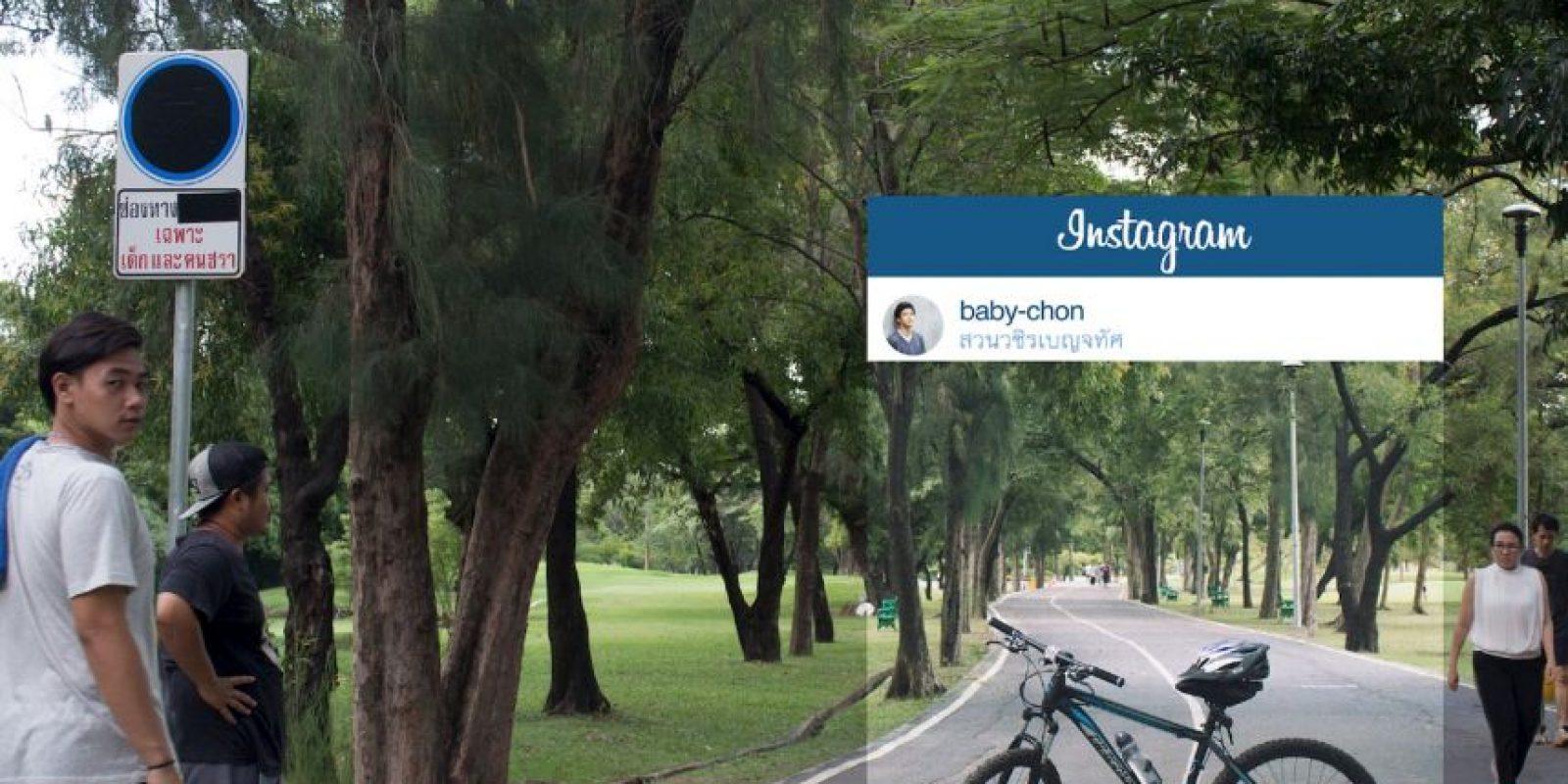 Un parque cualquiera. Foto:vía Facebook/Chompoo Baritone
