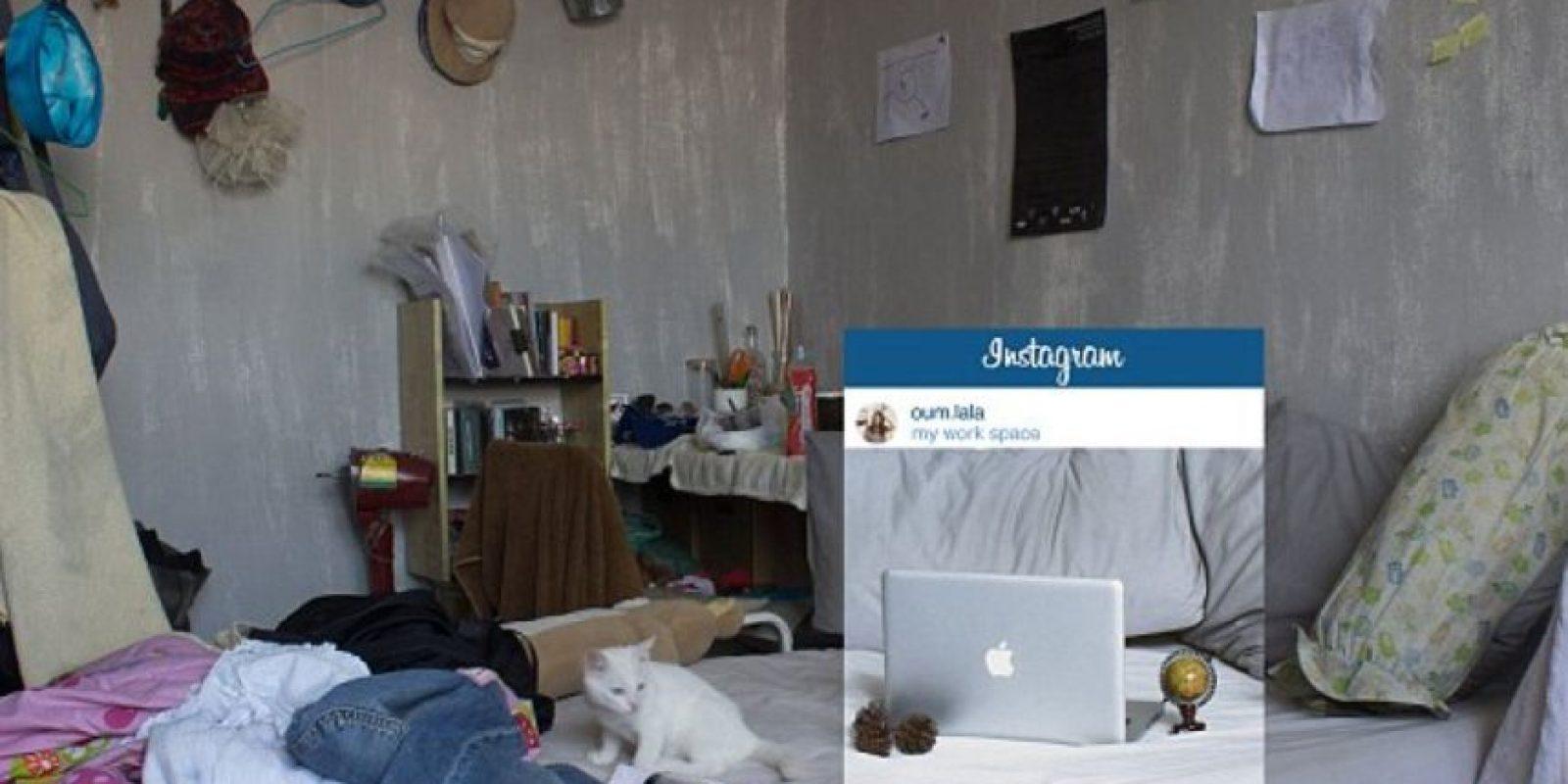 """Una habitación digna de """"Los Miserables"""". Foto:vía Facebook/Chompoo Baritone"""