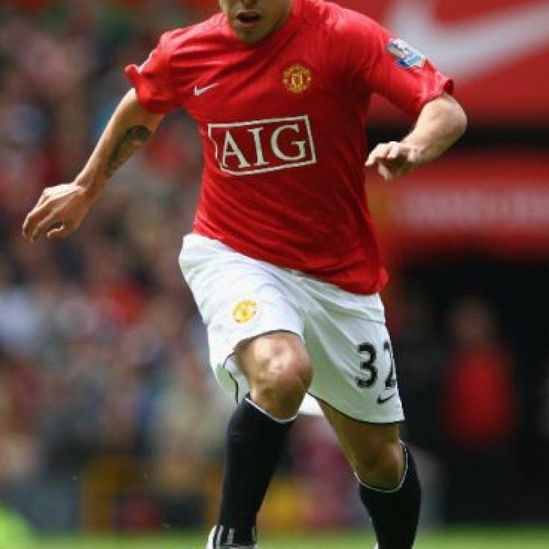 """El """"Apache"""" brilló en el Manchester United donde jugó de 2007 a 2009, pero luego se marchó al Manchester City, acérrimo rival de los """"Red Devils"""". En ambos clubes fue campeón. Foto:Getty Images"""