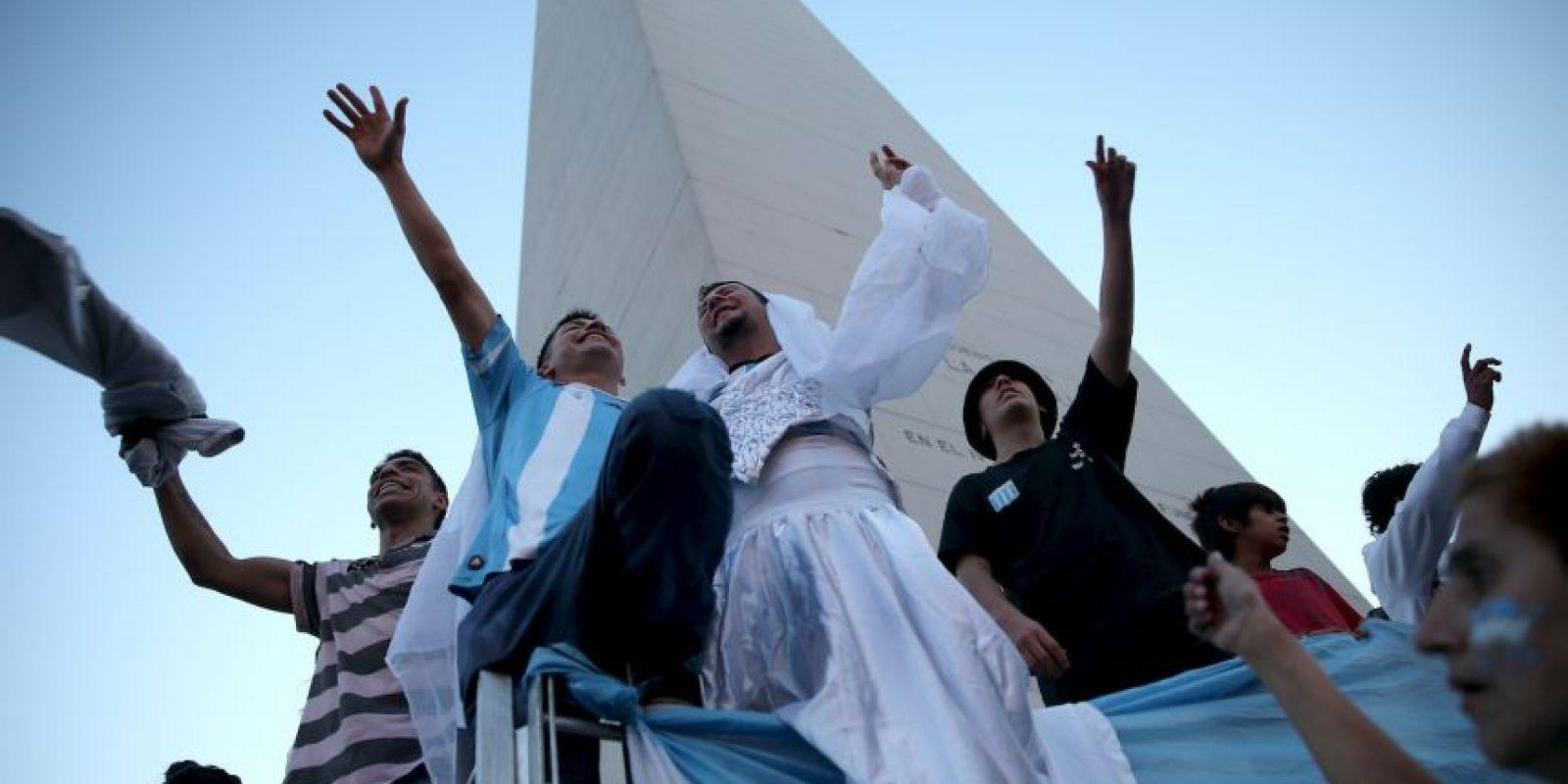 Es donde los bonaerenses celebran los triunfos Foto:Getty Images