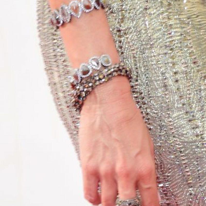 Además, escogió accesorios de acuerdo con el diseño de su vestido. Foto:Getty Images