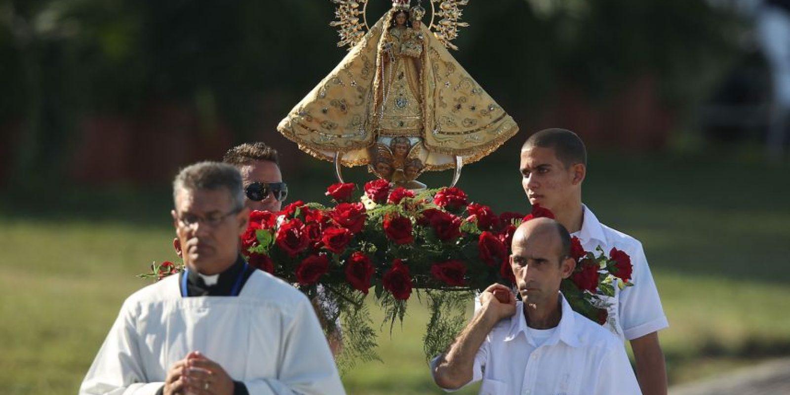 El lunes realizó una misa masiva en Holguín, en la que instó a los fieles a ser humildes. Foto:Getty Images