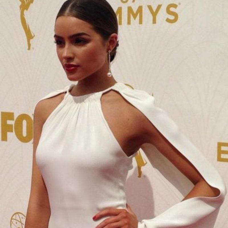 Olivia Culpo, a pesar de desvanecerse, impecable. Foto:vía Getty Images