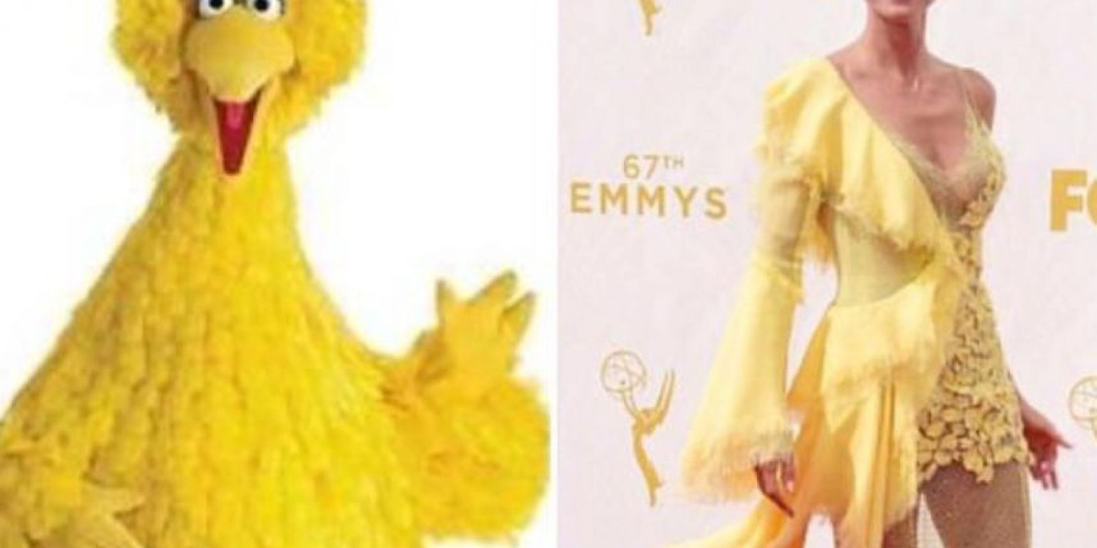 Heidi en Versace. Foto:vía Getty Images
