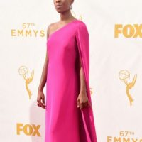 Samira Willey, como Lupita Nyong'o. Foto: vía Getty Images