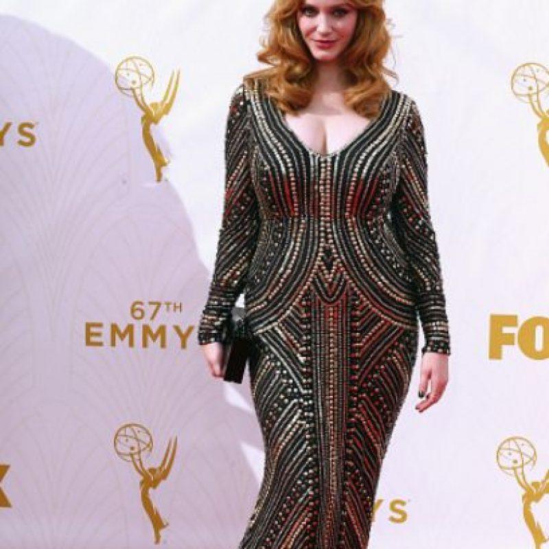 Y un vestido que no iba bien con ella. Foto:vía Getty Images