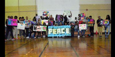 No hicieron falta los carteles para hacer llegar el mensaje. Foto:Vía @ParkwayNWPeace