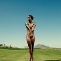 Sadena Parks. La golfista estadounidense también se mostró al natural Foto:ESPN