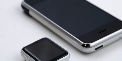 Un usuario de Reddit decidió juntar el Apple Watch con el primer iPhone pra registrar la evolución de los productos de la manzana. La semejanza de estos dos aparatos resultó sorprendente Foto:Reddit