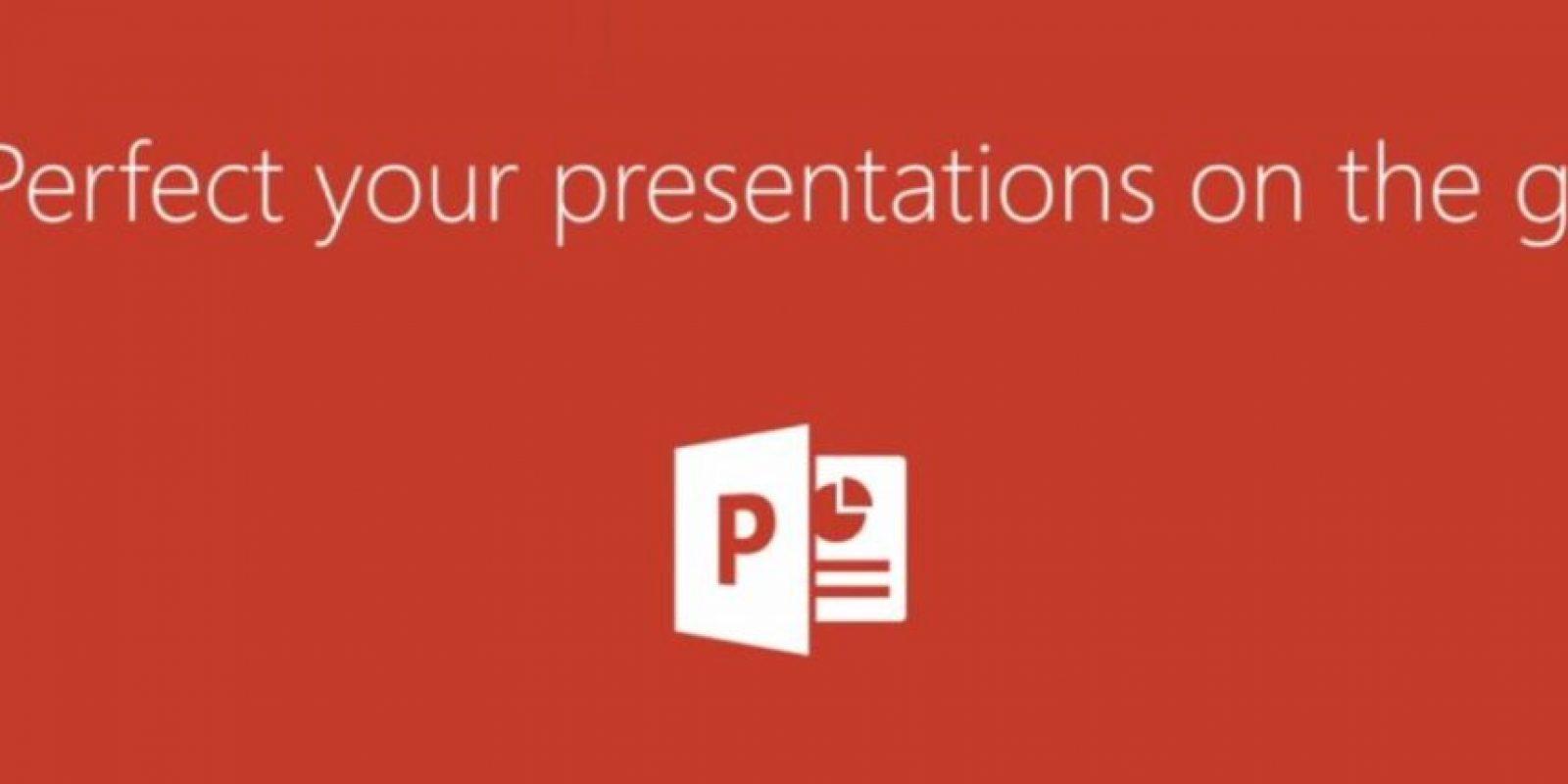 Para las presentaciones está PowerPoint. Foto:Microsoft