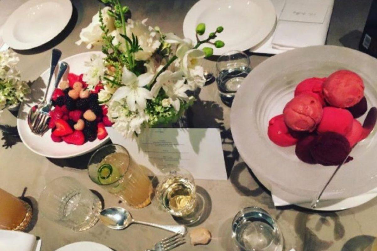 Y el lujoso menú con el que recibió a sus invitados. Foto:vía instagram.com/brookecaldwell16