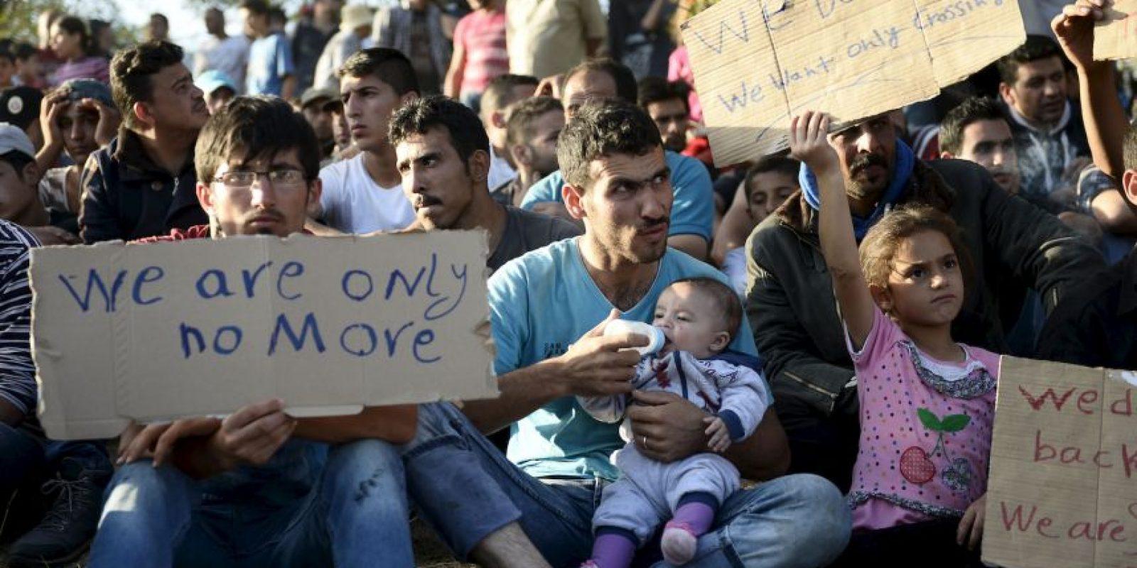 """""""Existen 8 millones de personas desplazadas solamente en Siria"""" Foto:Getty Images"""