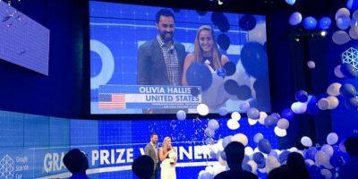 Olivia Hallisey, estadounidense de 16 años, fue la ganadora de la beca de 50 mil dólares de la feria de ciencia de Google 2015 Foto:Google Science Fair