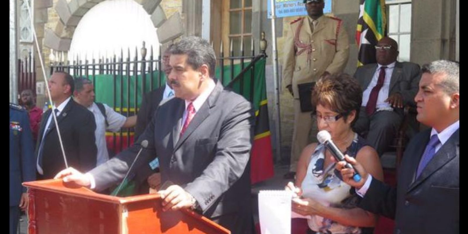 Tras la firma de dos acuerdos el presidente venezolano ofreció una conferencia de prensa. Foto:Vía Twitter @thomasramirezs