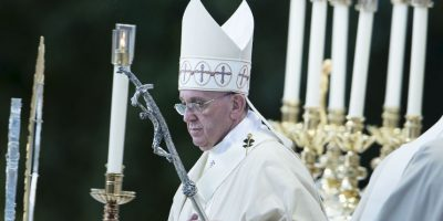 Y llevó a cabo una misa. Foto:AFP