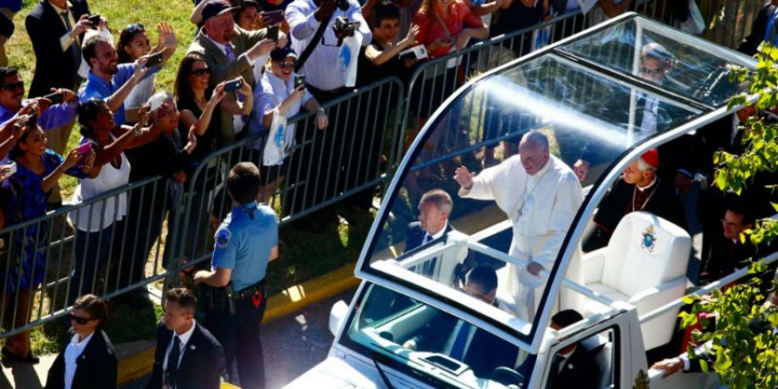 También realizó una caravana en las calles de Washington. Foto:AFP