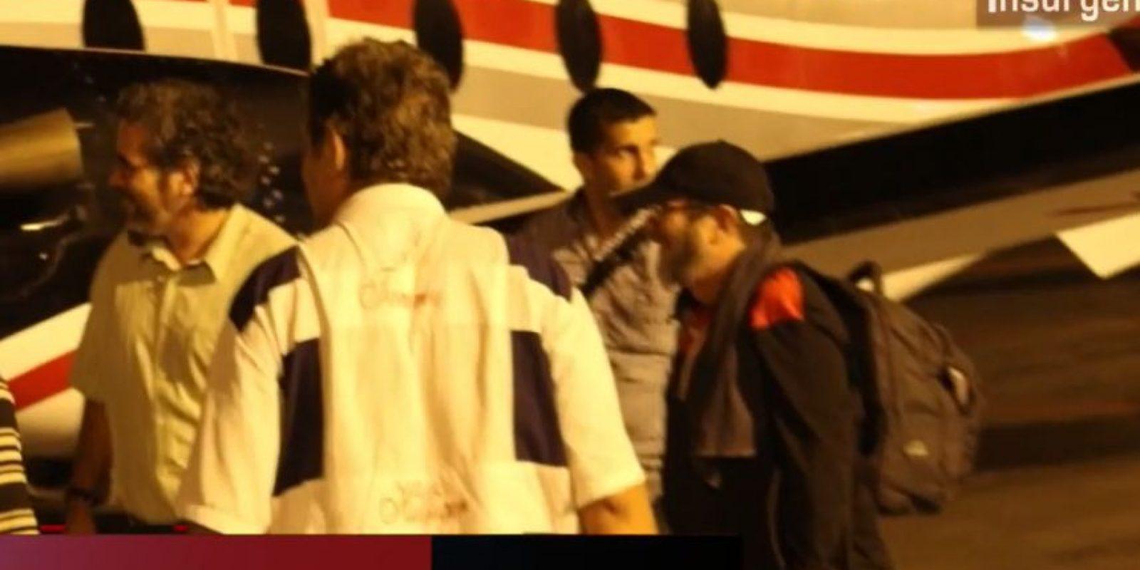 """Estas fueron las imágenes difundidas de la llegada de """"Timochenko"""" a La Habana. Foto:Captura de pantalla PublimetroTV"""
