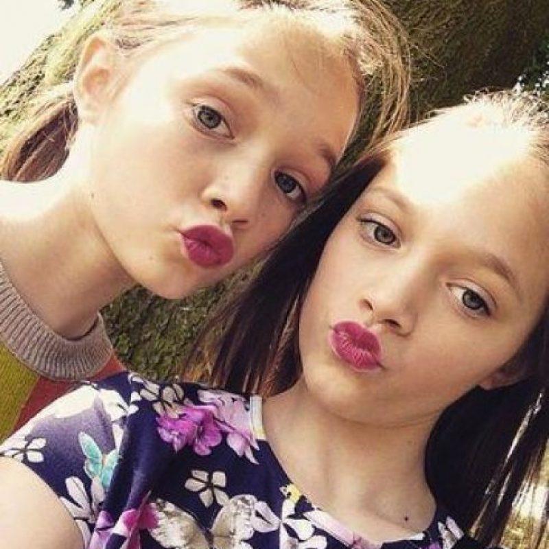 Las hermanitas y gemelas de la familia. Foto:vía twitter.com/tommophoebe