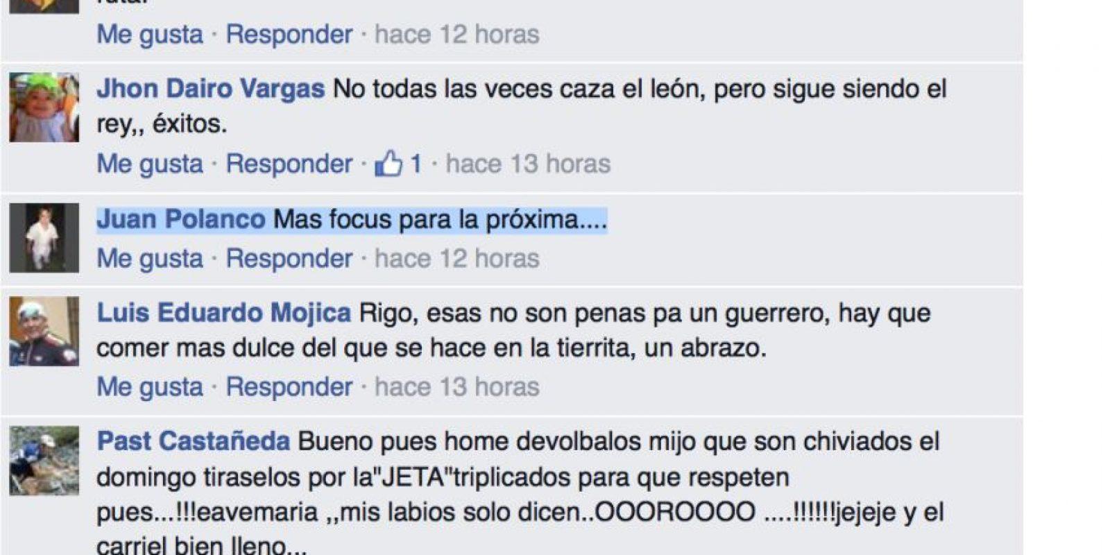 Foto:Captura de pantalla Facebook Rigoberto Urán