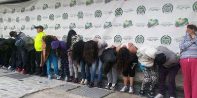 Banda 'Las Arpías' Foto:Cortesía Policía De Bogotá