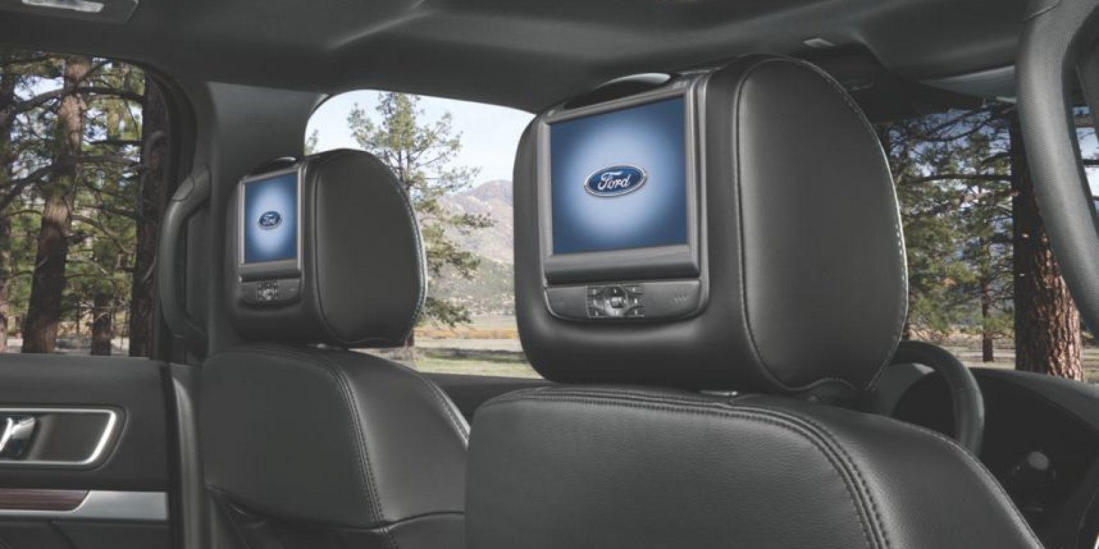 pantallas para los puestos de at´ras. Foto:Cortesía Ford