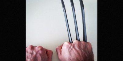"""""""Wolverine… por última vez"""", fue lo que escribió junto a una fotografía de las garras de su personaje. Foto:Instagram/hughjackman"""