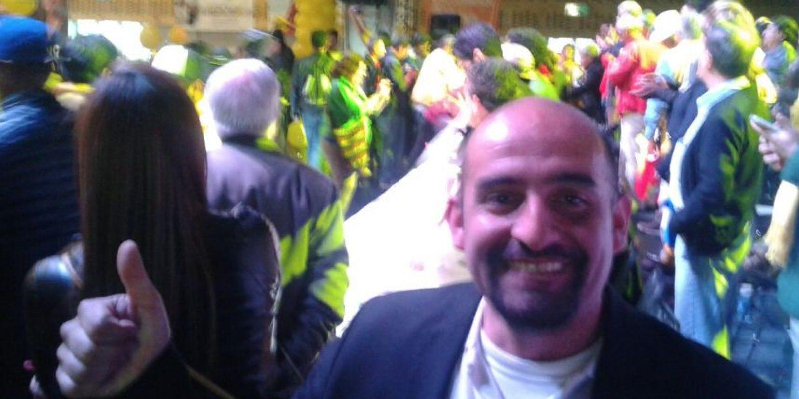 Freddy Contreras, líder de los taxistas. Foto:Facebook Confederación Colombiana de Transporte Público