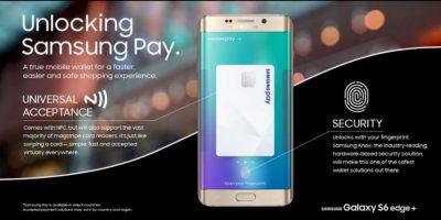 Samsung Pay universal, mejoras en la seguridad del sensor dactilar Foto:Samsung