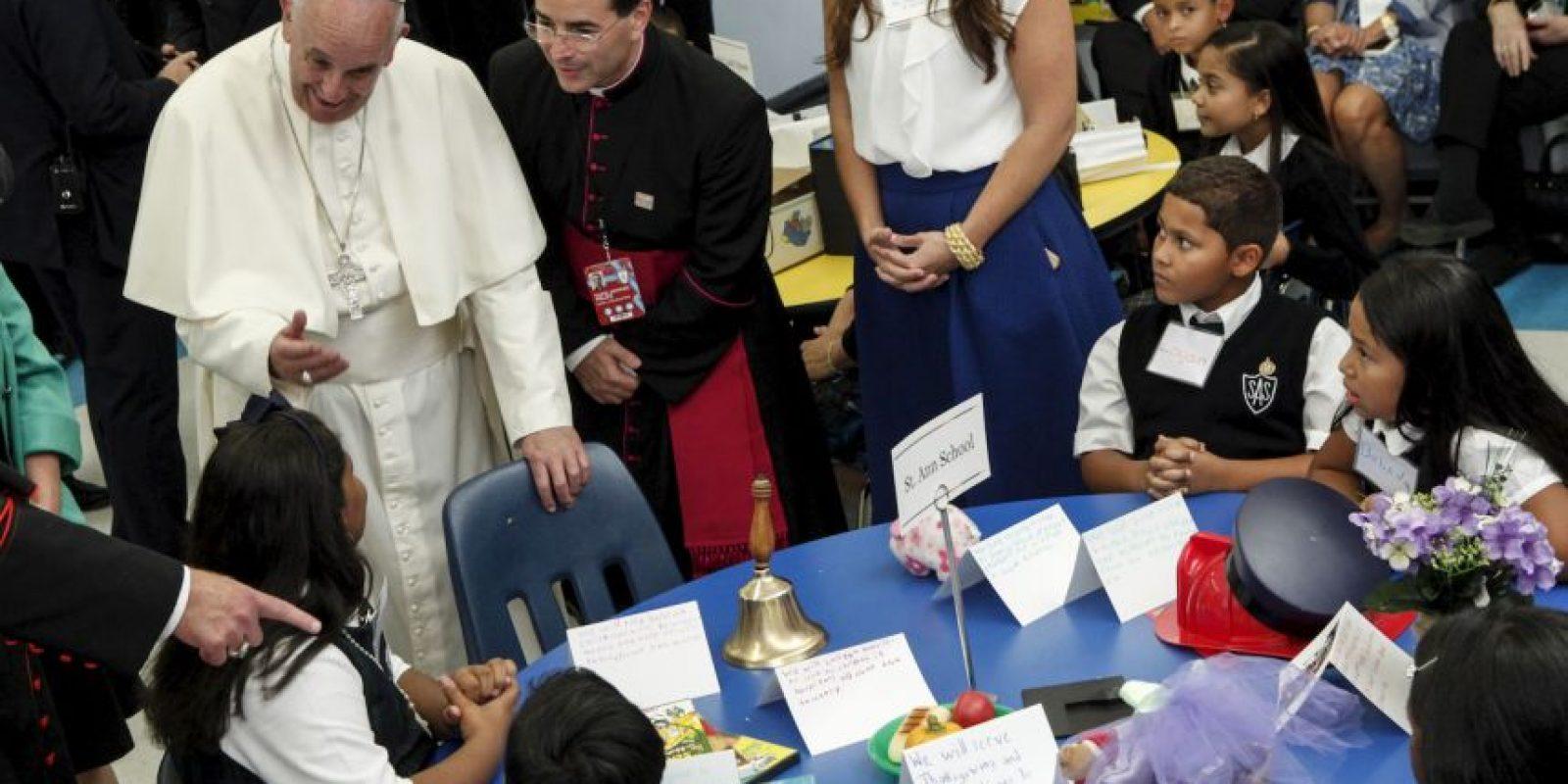 Como tarea les pidió que rezaran por él. Foto:AFP