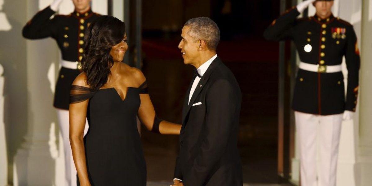 Michelle Obama roba protagonismo en cena de gala de la Casa Blanca