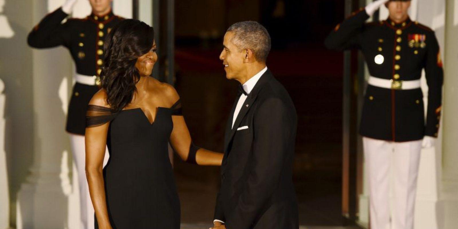 El presidente estadounidense reconoció lo bella que lucía su mujer. Foto:AFP