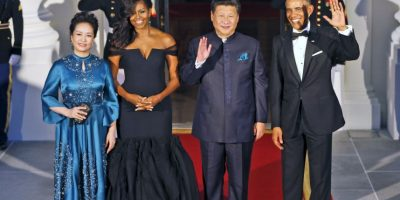 La primera dama china también destacó por su elegancia. Foto:AP