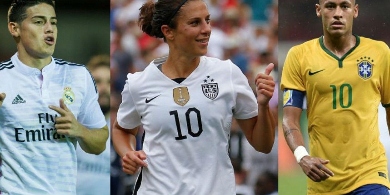 """La estadounidense Carli Lloyd es mejor que James y Neymar en el """"FIFA 16"""". Foto:Getty Images"""