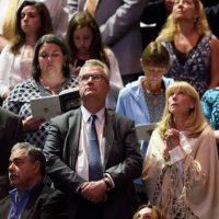 Así fue ovacionado por el público. Foto:vía AFP/Getty Images