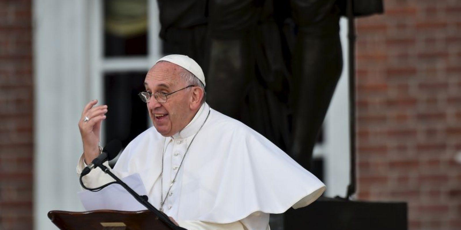"""Pidió a los presentes que rezaran """"un poquito"""" por él. Foto:AFP"""