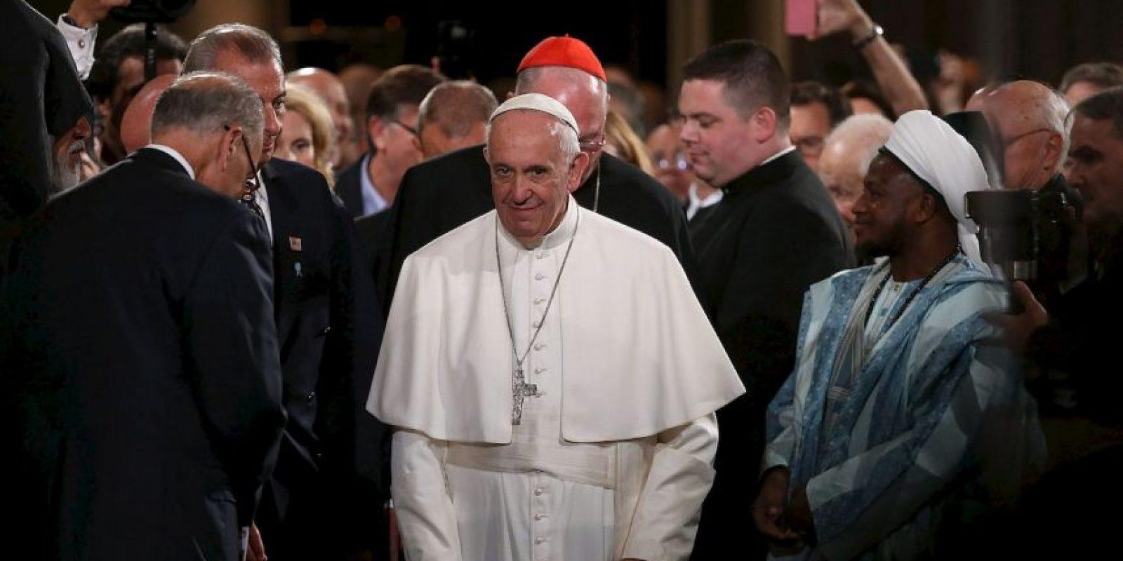 Tuvo un encuentro intereligioso Foto:AFP