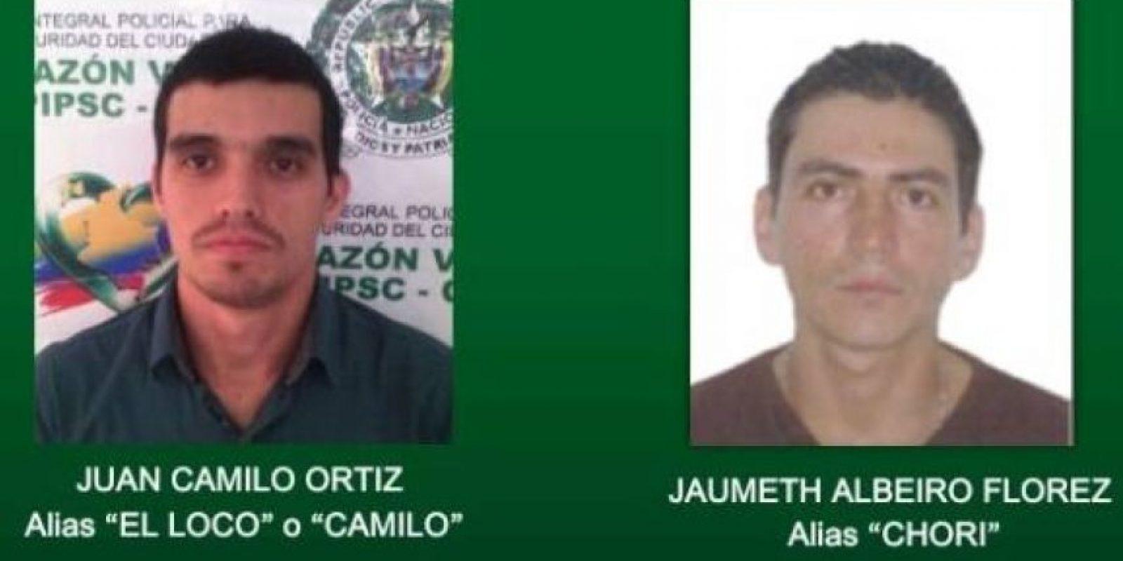 Las imágenes de los presuntos asesinos de la periodista Foto:Policía Nacional