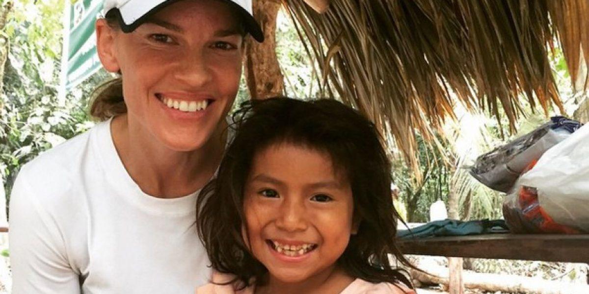 Hilary Swank pasó su cumpleaños en Colombia