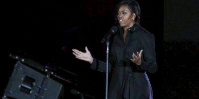Michelle Obama pidió apoyo para su nueva campaña a favor de las niñas sin educación. Foto:Getty Images