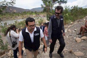 La CIDH hizo una visita a la frontera Foto:Cortesía CIDH