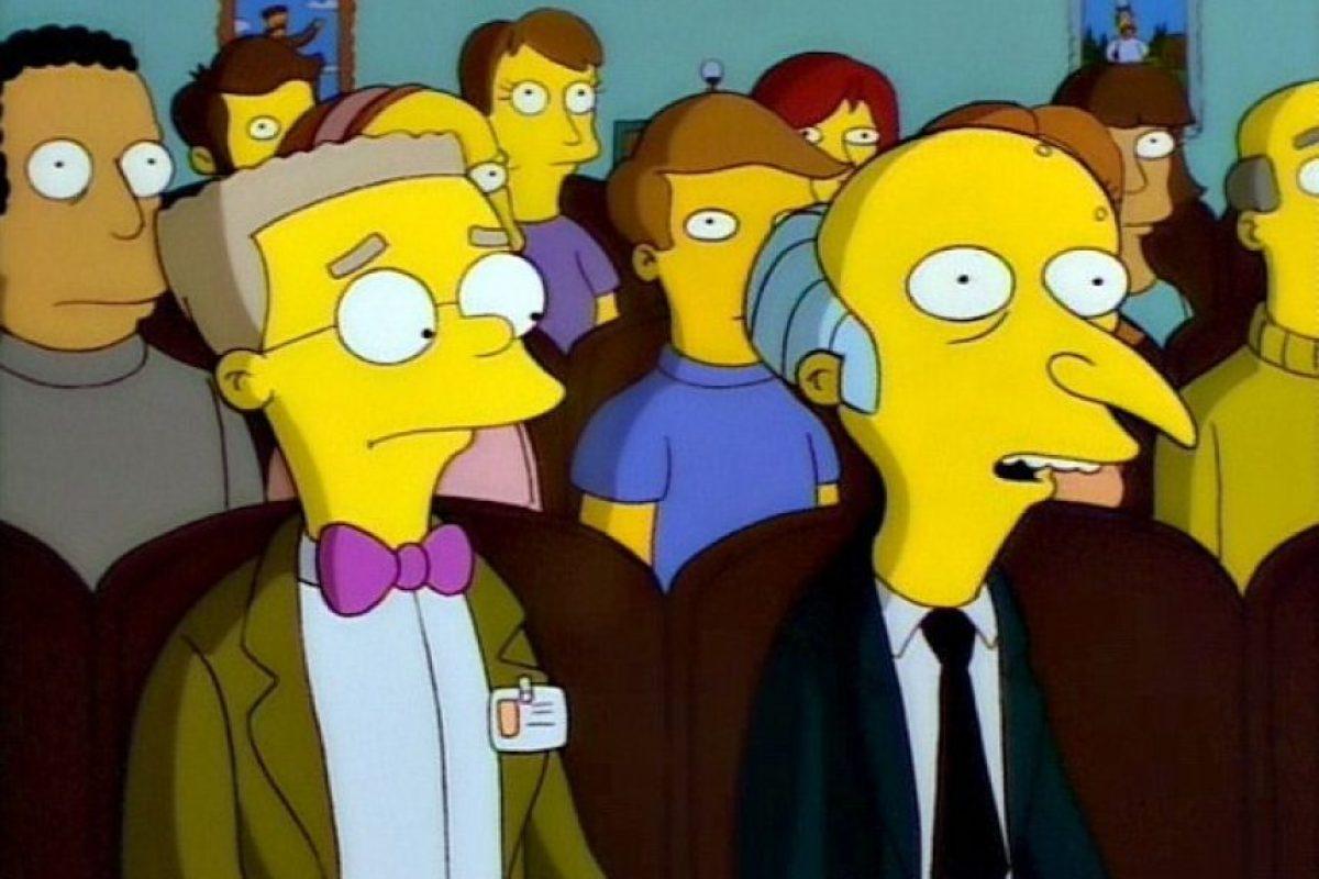 """La mayoría de los habitantes de """"Springfield"""" sabe que """"Smithers"""" es gay. Foto:20th Century Fox"""