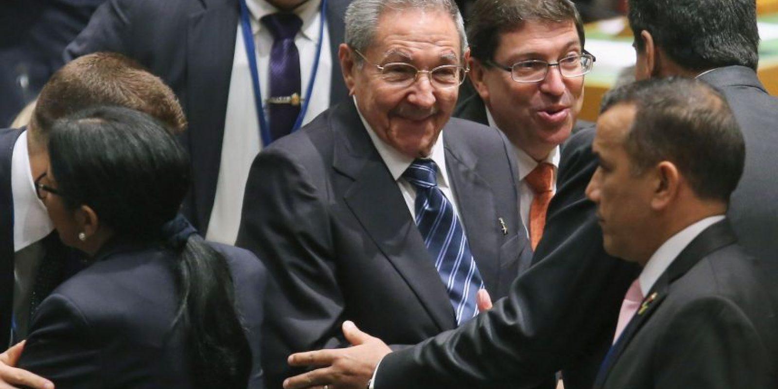 El presidente cubano pidio por el embargo económico que Estados Unidos tiene sobre Cuba. Foto:Getty Images