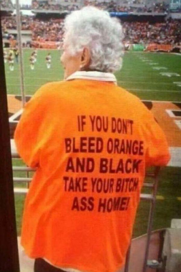 """""""Si no te gusta el naranja y negro, lleva tu trasero de vuelta a casa"""" Foto:Tumblr"""