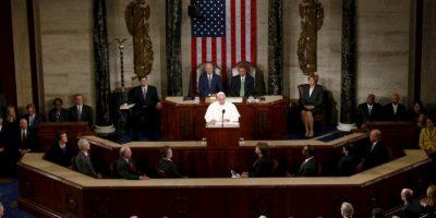 Donde el Papa tuvo la oportunidad de hablar frente al Congreso Foto:AP