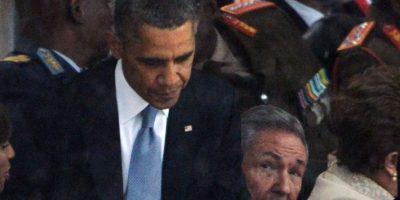 Fue un encuentro informal en el funeral de Nelson Mandela Foto:AFP