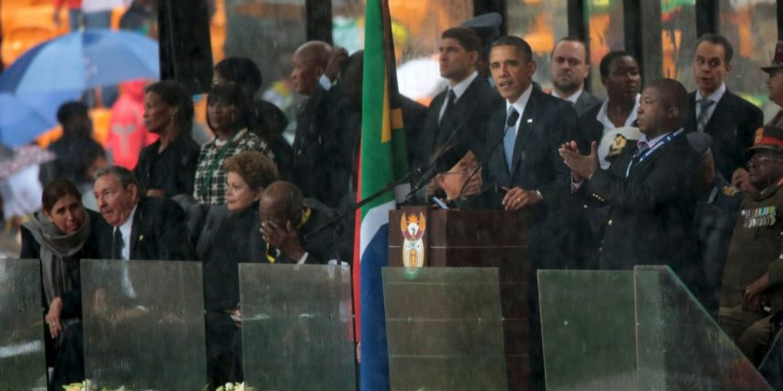 Fue la primera ocasión en que los mandatarios de ambos países estrecharon la mano Foto:Getty Images