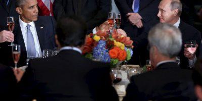 Las cosas se pusieron un poco incómodas a la hora del brindis Foto:AFP